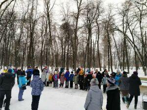 В Александровском саду Елабуги дети и взрослые прошли квест «Зимний лес»