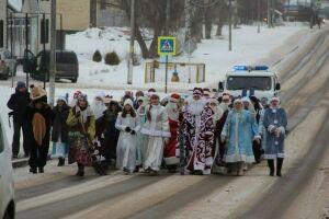 На Центральной площади Болгара прошел парад Дедов Морозов