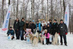 Зеленодольцы приняли участие в гонках на собачьих упряжках в Чебоксарах