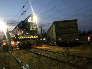 Ранним утром в Юдино с рельсов сошли два вагона грузового поезда
