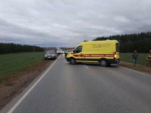 Иномарка вылетела с трассы в РТ в кювет и перевернулась, водитель в больнице