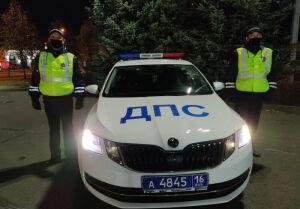 Инспекторы ДПС помогли автоледи в Казани доставить супруга до больницы