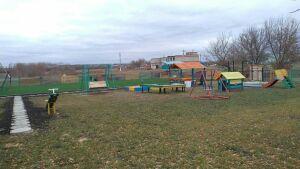 В Буинском районе построили детскую спортивно-игровую площадку