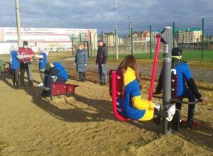 Жители Нурлата за счет гранта оборудовали спортплощадку