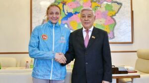 Фарид Мухаметшин встретился с шестикратной чемпионкой России по бадминтону