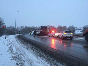 Один человек пострадал в столкновении двух грузовых авто на трассе в РТ