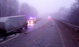Водитель легковушки с прицепом погиб, столкнувшись лоб в лоб с такси в Татарстане