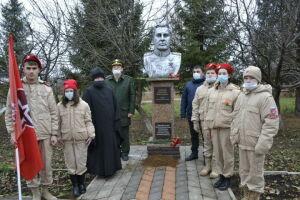 В Мензелинске состоялась закладка капсулы с землей с могилы генерала Гордова