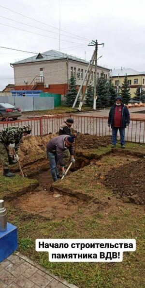 В Базарных Матаках заложили фундамент памятника алькеевцам-десантникам