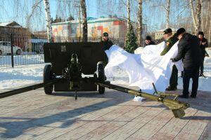 В Болгаре открыли монумент в виде точной копии пушки ЗиС-3