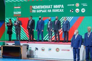 В Казани прошло открытие чемпионата мира по борьбе на поясах 2020 года