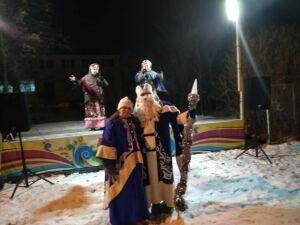 В Заинском районе открылись три новогодние елки