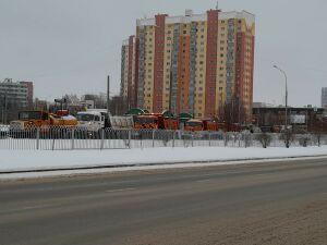 Исполком Челнов ответил, почему самосвалы ПАД устроили пробку на одной из улиц