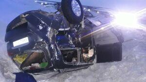 Иномарка вылетела в кювет и завалилась на крышу в РТ, пострадал водитель