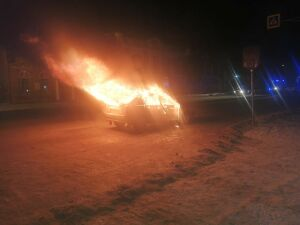 В Бугульме задержали пьяных приятелей, которые зарезали таксиста и сожгли авто