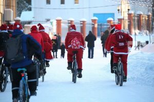 В Казани отменили велопарад Дедов Морозов