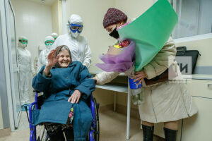 Врачи республиканской инфекционной больницы вылечили 101-летнюю женщину от Covid