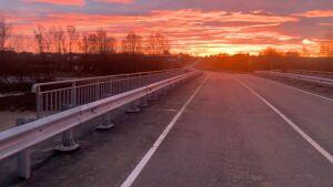 В Менделеевском районе завершилось строительство моста через реку Возжайка