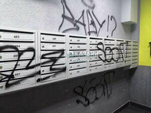 В Казани в одном из домов жилого комплекса разрисовали почтовые ящики