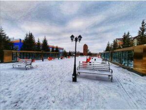 В Кайбицах после реконструкции открылся парк Победы