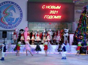 Для одаренных детей Высокогорского района показали ледовое шоу