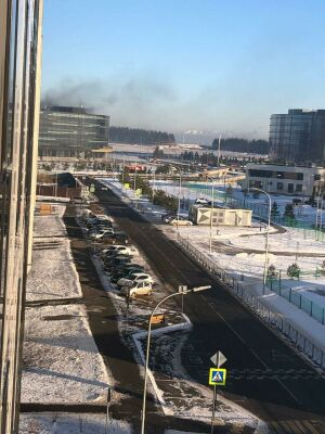 На стройке в Иннополисе вспыхнул пожар