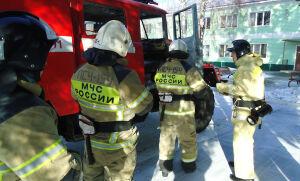 Пожарные и сотрудники УФСИН боролись с условным пожаром на территории колонии в РТ