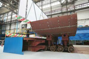 В Зеленодольске заложили первый в России речной теплоход на природном газе