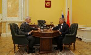 Минниханов рассказал Матыцину о реализации проекта «Спорт – норма жизни»