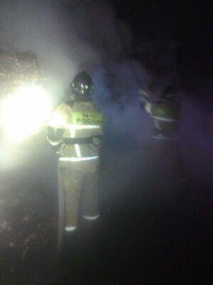 Ночью в Верхнеуслонском районе РТ загорелась фура с яйцами из Мордовии