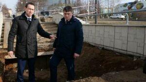 В Альметьевске на улице Ленина началась реконструкция пешеходного спуска