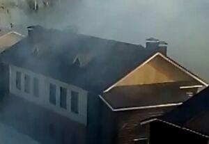 На видео сняли пожар в Полукамушках в Зеленодольске
