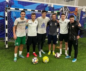 Футболисты «Рубина» и «Нефтехимика» устроили совместную тренировку в Казани