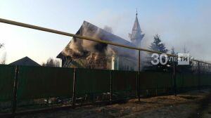 В Ютазинском районе на месте сгоревшей мечети начали строить новую
