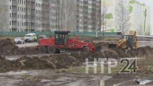 На проспекте Мира в Нижнекамске началось строительство новой дороги