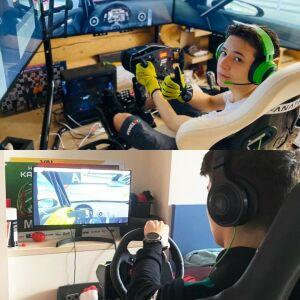 Сын Салавата Фатхутдинова занял 4-е место в виртуальной гонке среди реальных пилотов