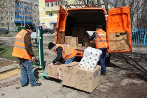 Челнинские дорожники вручили интернату для престарелых средства индивидуальной защиты