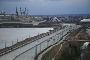 Плотность движения на дорогах Казани снизилась почти в два раза