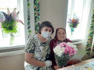 Долгожительница Кайбицкого района отпраздновала 99-летие