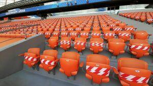 «Екатеринбург Арену» подготовили для рассадки болельщиков на игру с «Рубином»