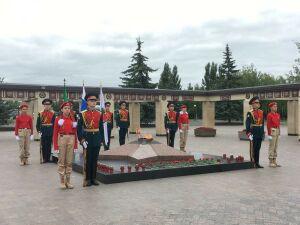 В парке Победы Казани минутой молчания почтили память погибших фронтовиков