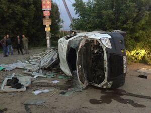 Три человека пострадали в перевернувшейся в Казани «ГАЗели»