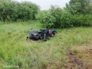 Два человека погибли в лобовом столкновении «БМВ» и «Лады» под Челнами
