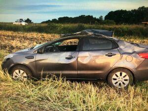 Под Челнами пьяный водитель на иномарке вылетел в кювет, пострадали два человека