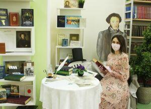 В библиотеке Нижнекамска установили фигуру Александра Пушкина