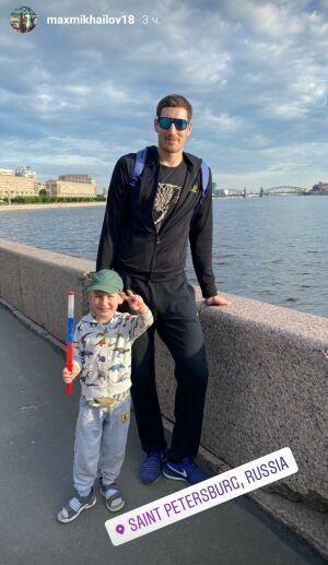 Игрок ВК «Зенит-Казань» Максим Михайлов проводит отпуск в Санкт-Петербурге