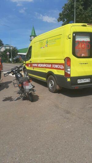 В Агрызе легковушка протаранила мотоцикл из Удмуртии, один человек пострадал