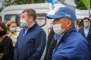 В Бугульминском районе Президенту РТ рассказали о создании молочных комплексов