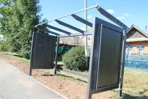 В Елабуге начался монтаж остановочных павильонов