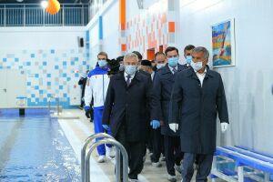Минниханов открыл бассейн в Высокогорском районе Татарстана